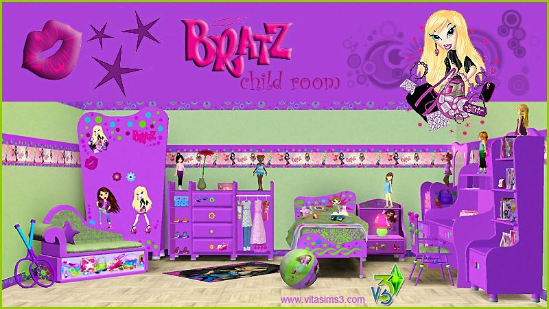 Sims 3 Updates Vita Sims3 Barbie Bratz Kids Room At